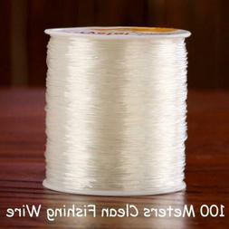 100m 0.8mm Super Strong Fishing Line Rope String Cord Clear