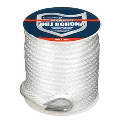 Attwood 11724-1 Solid Braid MFP Anchor Line with Thimble (Wh