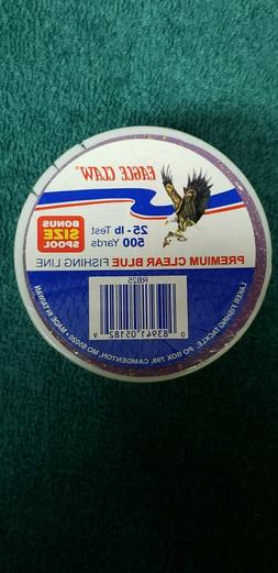 Eagle Claw 25 lb Premium Clear Blue Fishing Line Lot of 4 -