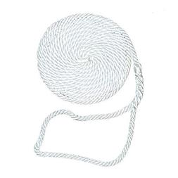 "Aamstrand 3 Strand Twisted Nylon Dock Lines - White 5/8"" X 3"