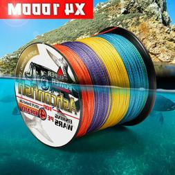 6LB-100LB PE Braided Fishing Line 4 Strands Multifilament PE