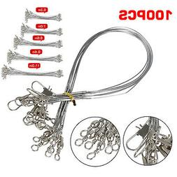 100pcs Trace Wire Leader Stainless Steel Fishing Line Leader