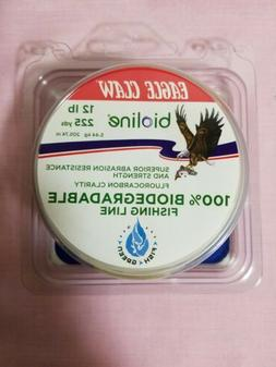 EAGLE CLAW BIOLINE FISHING LINE 12-lb TEST Free Shipping