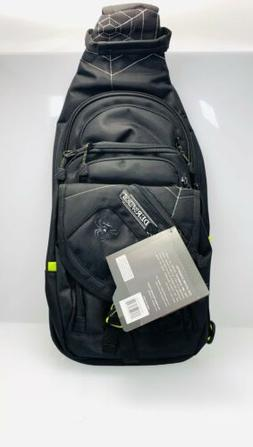 Spiderwire Black Sling Tackle Pack Backpack W/ 1 Medium Box