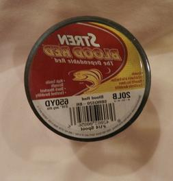 Stren Blood Red Mono Fishing Line- 20 lb/650 yds- 1/4 # Spoo