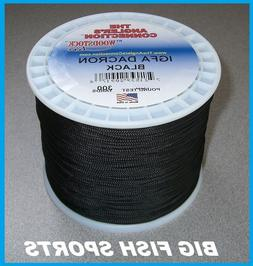 WOODSTOCK BRAIDED DACRON IGFA Fishing Line Black 300 YARDS F