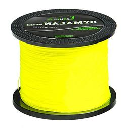 JIMEI Braided Fishing line 1000m/1094yds 50LB Yellow 4 Stran