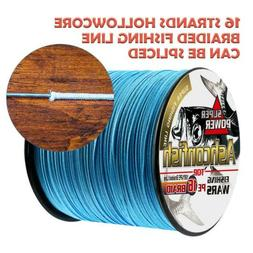 Ashconfish Braided Fishing Line-16 Strands Hollow Core Fish