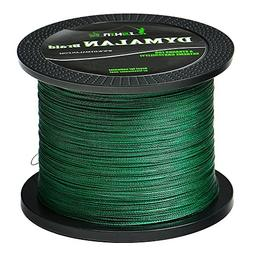 JIMEI Braided Fishing line 20LB 1000m/1094yds Green 4 Strand