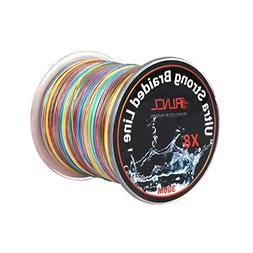 RUNCL Braided Fishing Line with 8 Strands, Fishing Line PE M