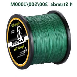 Braided PE Fishing Line 4 strands 300m/500m/1000m Super Stro