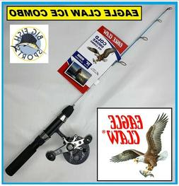 "EAGLE CLAW COLD SMOKE ICE Fishing Rod And Reel Combo 24"" Len"