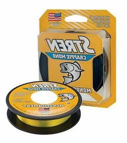 Stren Crappie Monofilament Fishing Line, 200 yd Hi-Vis Gold,