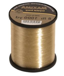 Maxima Crystal Ivory Monofilament Guide Spools - Gold Monofi