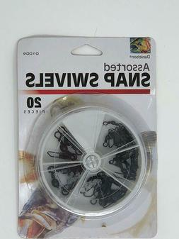 Fisherman Fishing Line Barrel Swivel with Safety Snap 20 Pie