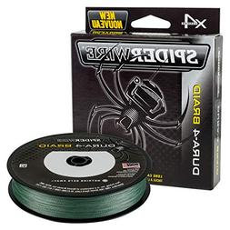 Spiderwire DURA-4 Braided Fishing Line, 300 yd, 50 lb, Moss