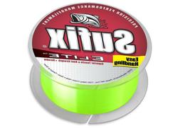 Sufix Elite Monofilament Hi-Vis Yellow 330 Yards - Monofilam