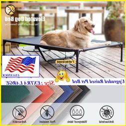 VEEHOO Elevated Dog Cat Beds Pet Cots EXTRA LARGE Cooling Ra