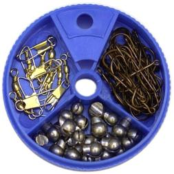 Eagle Claw 75-Piece Hook/Swivel/Sinker Assortment