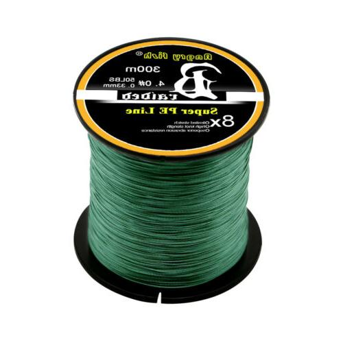 10-100LB Braided Line 4/8 STRANDS Super Saltwater Fishing
