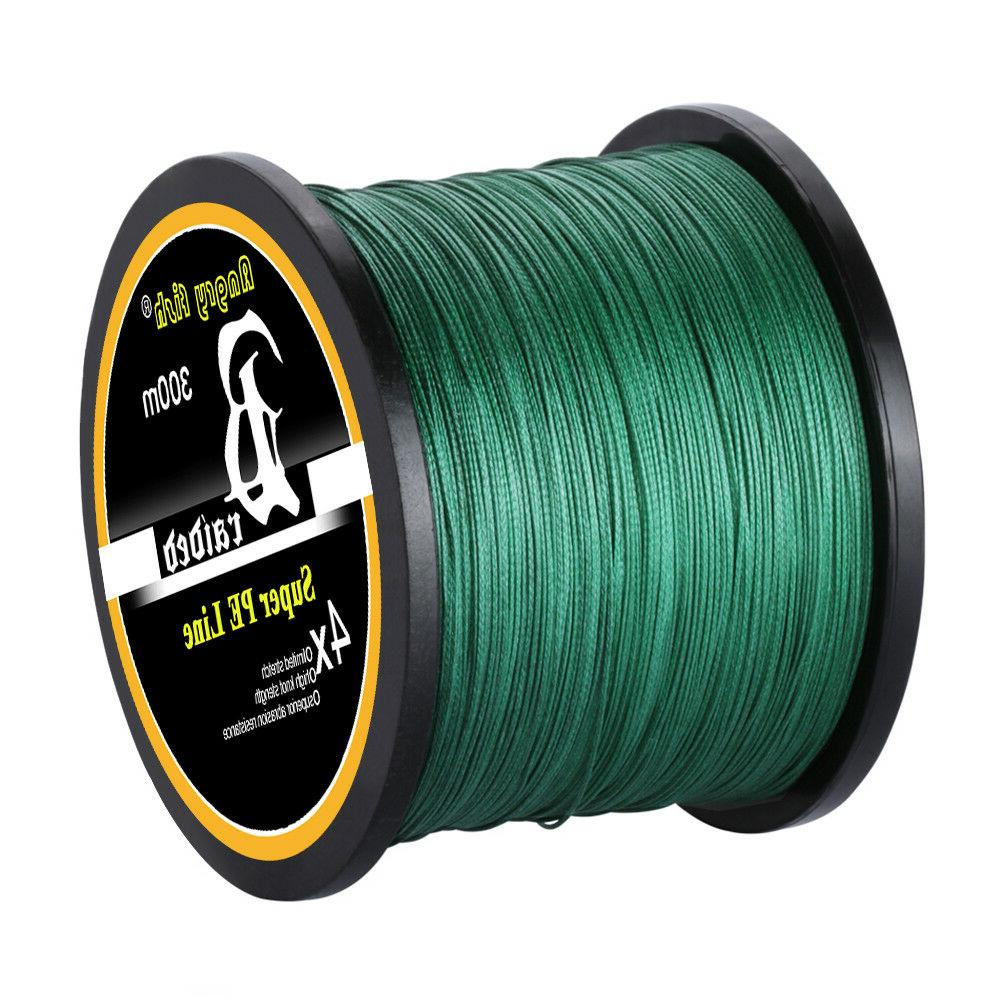 Super Strong PE Braided Fishing Line Abrasion Resistant 4/8