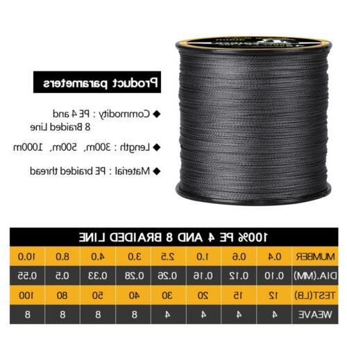 328/547/1093Yds Super Strong Braided Spool 4 & 8 12-100Lbs