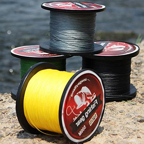 Sougayilang 500m/547Yards 4 Strands 12lb-72lb and Braided Line