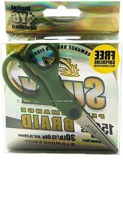 Sufix Performance Braid Lo-Vis Green 30 lb 150 yards w/Sciss