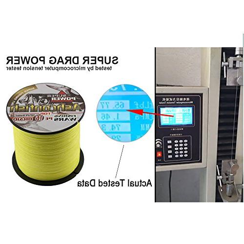 Ashconfish Braided Fishing Strands Hollow Core Wire Abrasion Resistant Incredible Stretch Diameter Thread