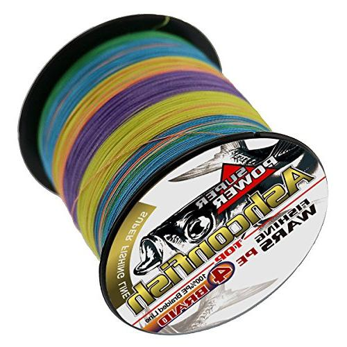 Ashconfish Braided Strands Super Fishing Fishing String Ultra Heavy & Freshwater