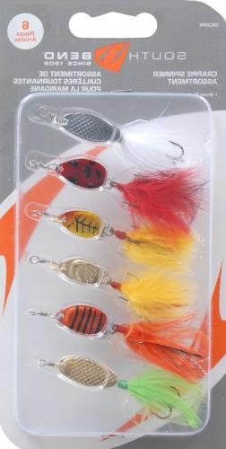 South Bend Crappie Spinner Assortment, 6-Pack