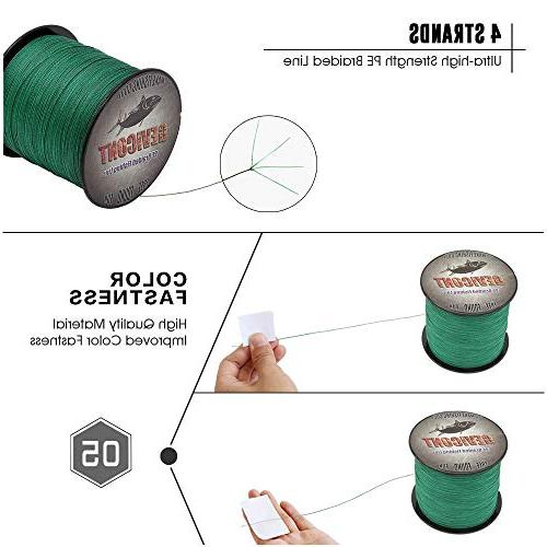 GEVICONT Braided Extension Fishing Material 300m/328yd 500m/547yd 100lb Multiple Walleye
