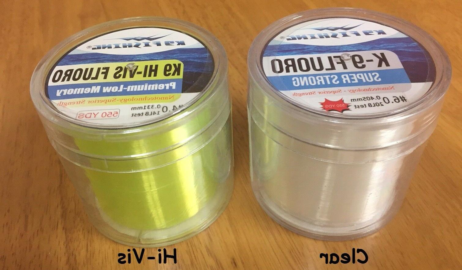 fluorocarbon fishing line choice of sizes