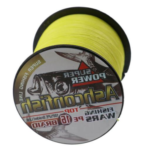 Hollow Core Ashconfish Braid Line 20LB-500LB Test Yellow