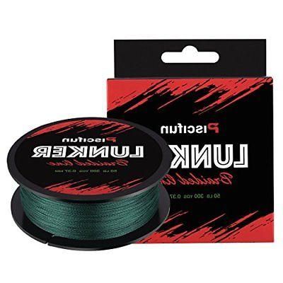 lunker improved braided fishing line multifilament 300yards