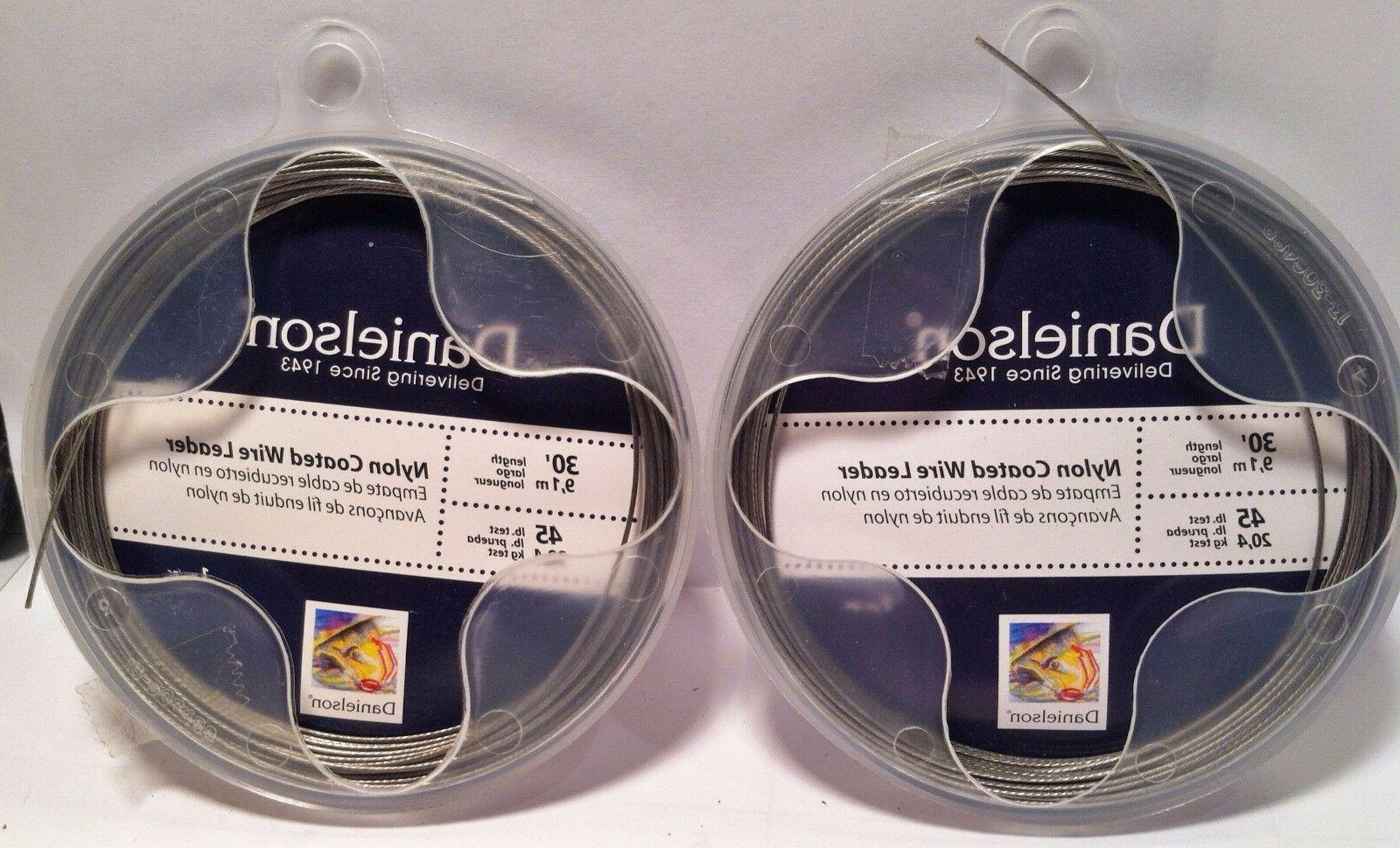 Lot 2 Danielson Nylon Coated Wire Leader Fishing Line 45lb 3