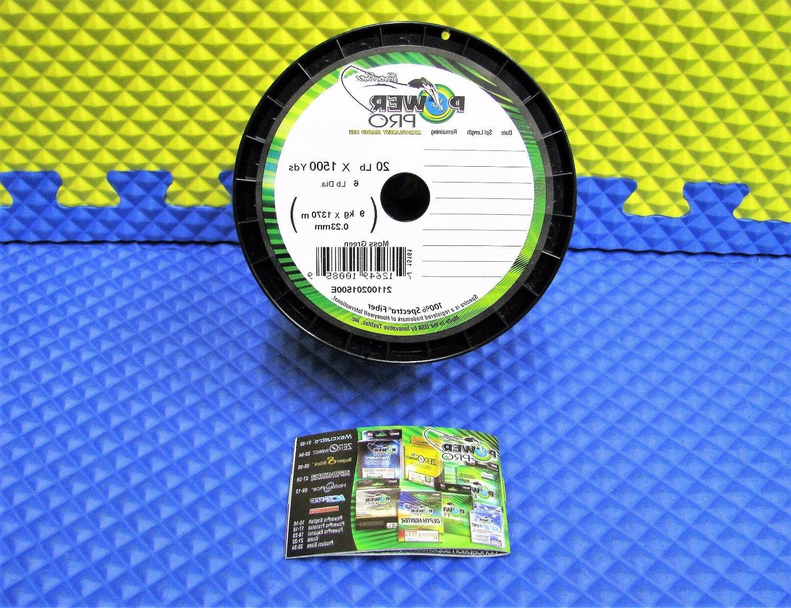 PowerPro Braided Spectra Fiber Fishing Line Moss Green 20LB