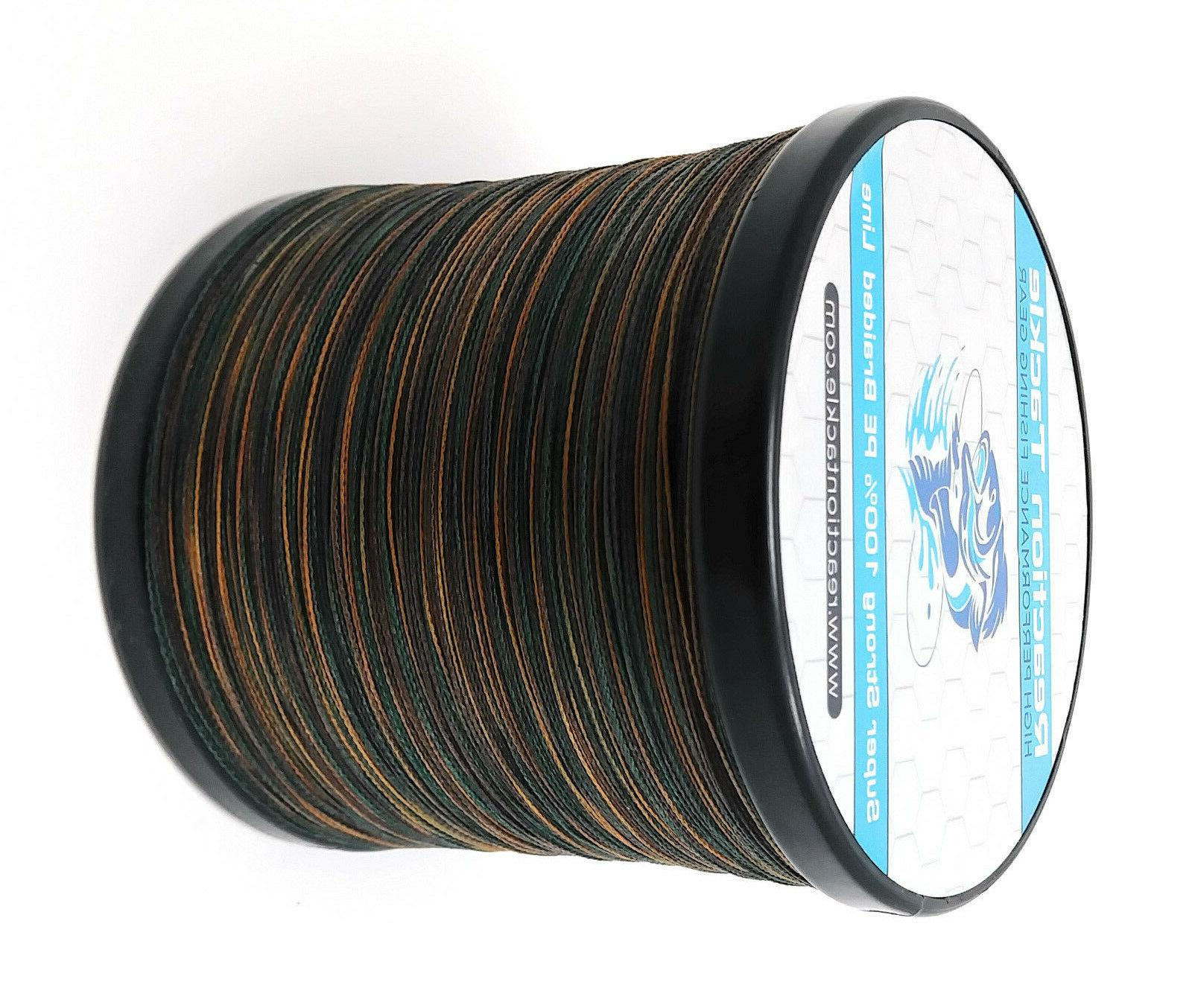 Reaction GREEN Camouflage Braided Line