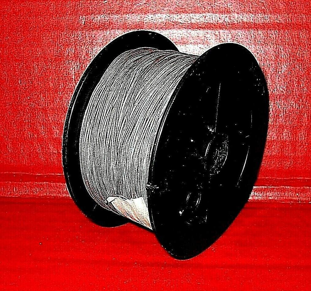 Spool of High LEAD CORE Multi-Colored Braided Fishing Line.