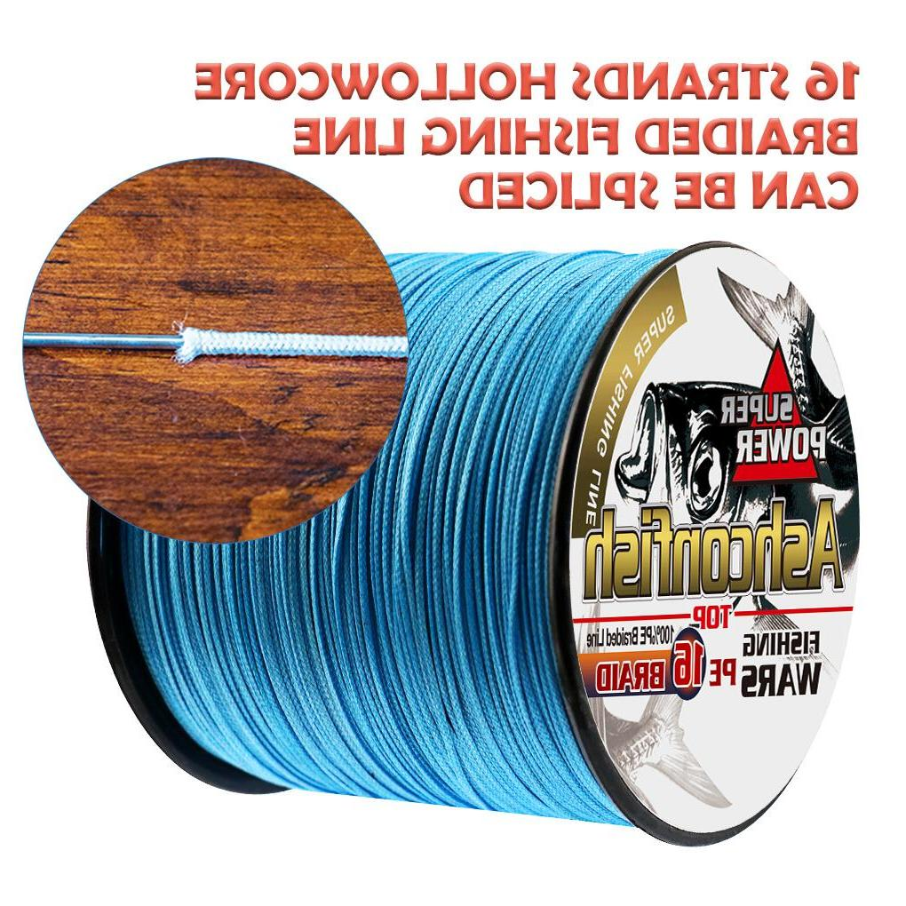 Super new hollowcore braided <font><b>fishing</b></font> <font><b>line</b></font> 16X strong cord braided wires