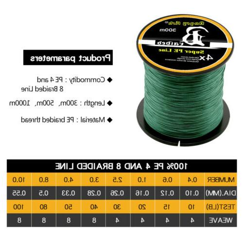 Super Strong Spectra Braided Fishing Strands 300/500/1000M