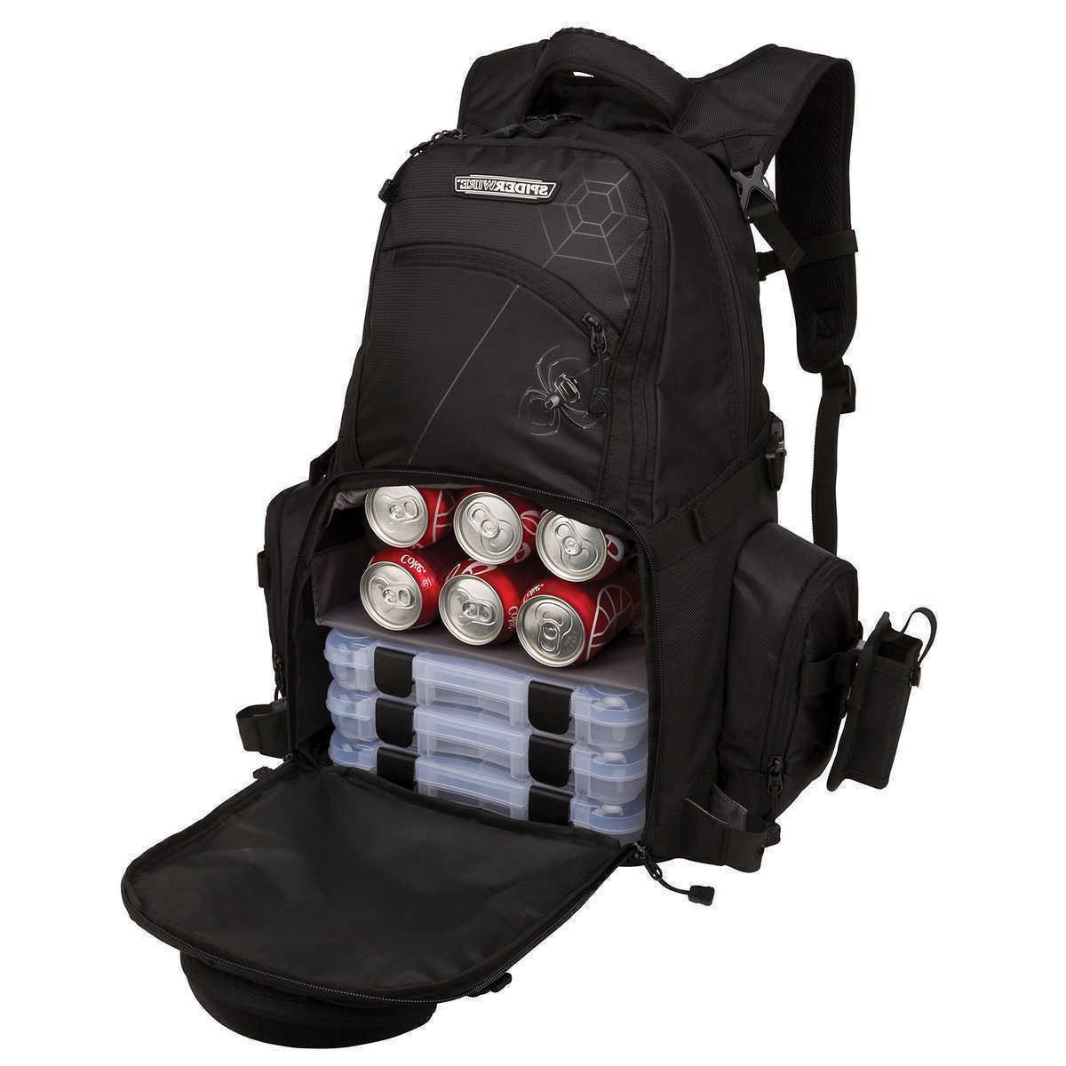 Spiderwire Tackle Backpack Fishing Rod Carry System Adjustab