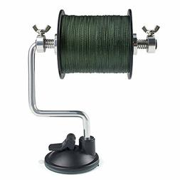 line spooler adjustable for varying spool sizes