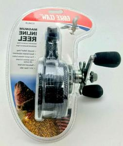 NEW Eagle Claw Magnum Inline Ice Fishing Reel Graphite ECMIL
