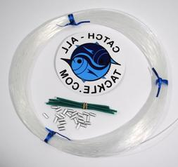 Monofilament Fishing Leader Kit 100yds 1.4mm-200lb Clear-Loo