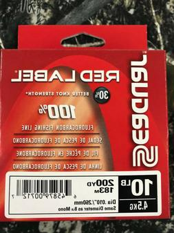 SEAGUAR RED LABEL 100% FLUOROCARBON FISHING LINE - 10LB - 20