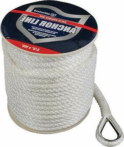 Attwood 11724-1 Solid Braid MFP Anchor Line with Thimble