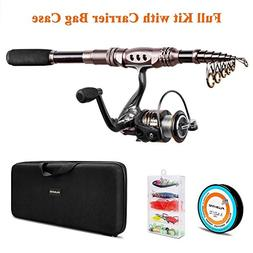 PLUSINNO Spinning Rod and Reel Combos Telescopic Fishing Rod