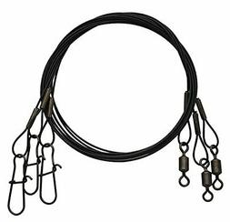 Eagle Claw 08012-003 12-Inch Steel Leader 20#, Black, 3-Pack