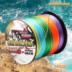 Super pe 500M 1000M braided wire 8Strands strong smooth 8-30